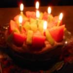 スイカとメロンのケーキ