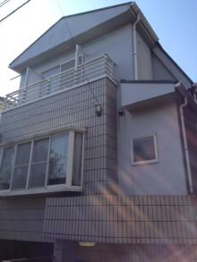 狭小住宅への採光とペットとの共生 東京都 外壁施工前