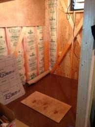 間仕切り壁造作 キッチン・内装リフォーム 市川市 T様邸 施工中 下地組み