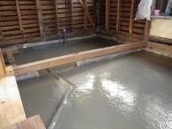間仕切り壁造作 キッチン・内装リフォーム 市川市 T様邸 施工中 布基礎からベタ基礎へ
