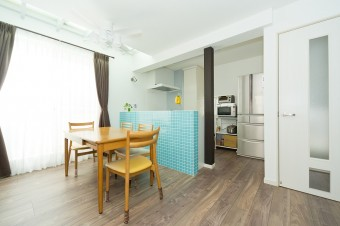 狭小住宅への採光とペットとの共生 東京都 LDK施工後