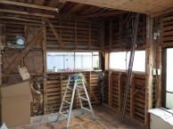 間仕切り壁造作 キッチン・内装リフォーム 市川市 T様邸 解体後 施工中