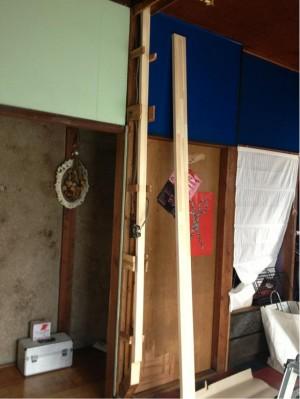 お部屋を広く使える間仕切り壁撤去工事 市川市S様邸 壁開口後