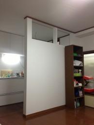 間仕切り壁造作 キッチン・内装リフォーム 市川市 T様邸 施工中 間仕切り壁造作後