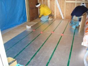 増築でお洒落なLDKに。 宅内造作工事 施工中