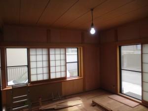京壁風クロス施工前