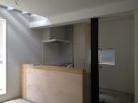 狭小住宅への採光とペットとの共生 東京都 LDKキッチンタイル施工前
