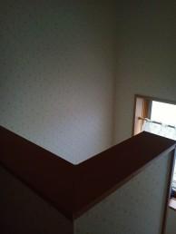 階段壁紙張替