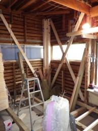 間仕切り壁造作 キッチン・内装リフォーム 市川市 T様邸 施工中 補強直し